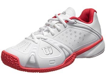 Wilson Rush Pro Clay White/Cherry Women's Shoe