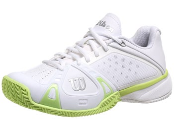 Wilson Rush Pro Clay White/Lime Women's Shoe