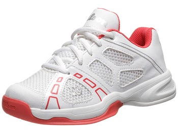 Wilson Rush Pro 2 White/Cherry Junior Shoes