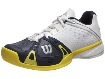 Wilson Rush Pro White/Navy/Yellow Men's Shoe