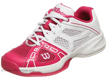 Wilson Rush Pro Pink/White Junior Shoes
