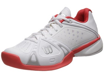 Wilson Rush Pro White/Cherry Women's Shoe