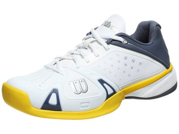 Wilson Rush Pro White/Grey/Yellow Men's Shoe