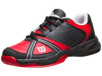 Wilson Rush NGX Black/Red Junior Shoes