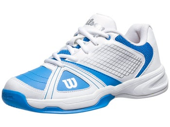 Wilson Rush NGX White/Blue Junior Shoes