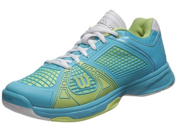 Wilson Rush NGX Blue/Cyber Green Women's Shoe