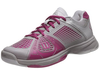 Wilson Rush NGX Grey/Fuchsia Women's Shoe