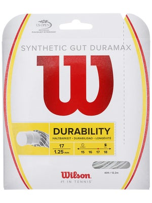 Wilson Synthetic Gut DuraMax 17 String White