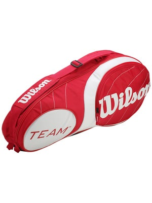 Wilson Team Red/White 3 Pack Bag