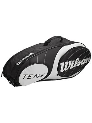 Wilson Team Black/SIlver 6 Pack Bag