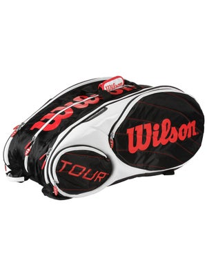 Wilson Tour Bk/Wh/Red 15 Pack Bag