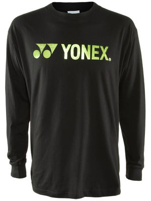 Yonex Men's Logo Long Sleeve T-Shirt Black