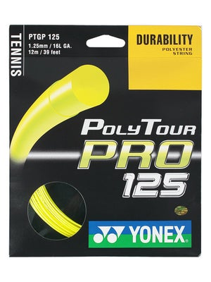 Yonex Poly Tour Pro 125 16L Yellow String