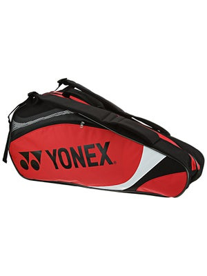 Yonex Tournament Basic 6 Pack Bag Red/Black