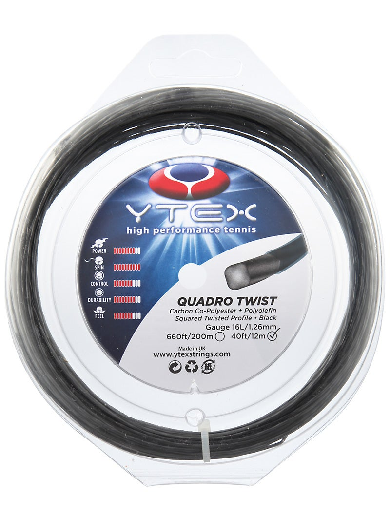 YTex Quadro Twist 16L String Black