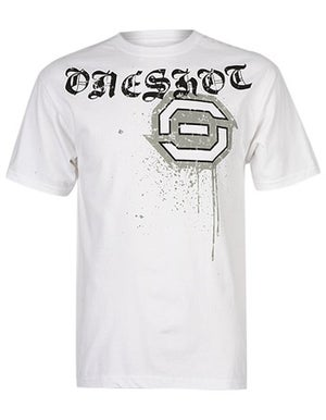 One Shot OS Logo T-Shirt White Small