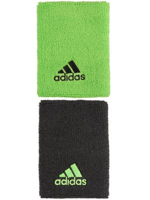 adidas Fall Large Wristband Night Grey/Solar Green