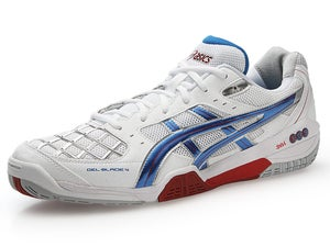 ASICS Gel-Blade 4 Mens Shoes Wh/Red/BL