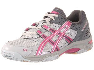 ASICS Gel Rocket 5 Womens Shoes Gry/Pnk Size 12