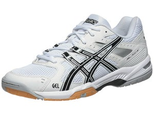 ASICS Gel Rocket 6 White/Black/Silver Mens Shoes