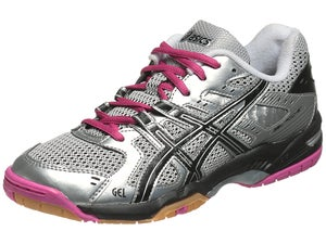 Asics Gel Rocket 6 Womens Shoes Silver/Pink