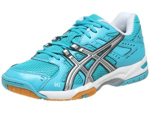 Asics Gel Rocket 6 Turquoise/Silver Womens Shoes