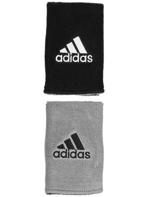 adidas Interval Large Reversible Wristband Black/Grey