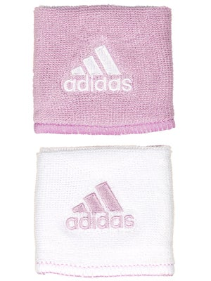 adidas Interval Small Reversible Wristband Pink/White