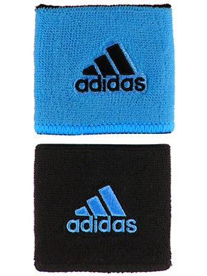 adidas Spring Small Reversible Wristband Blue/Black