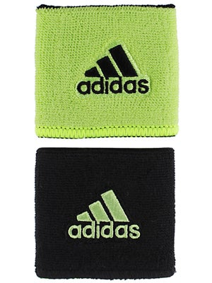 adidas Spring Small Reversible Wristband Slime/Black