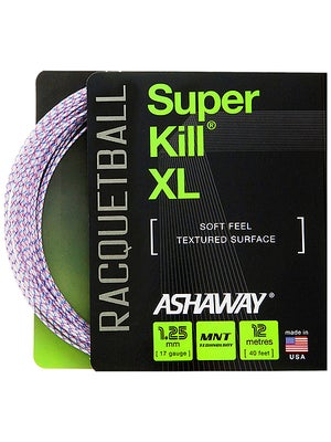 Ashaway SuperKill XL 17 String White w/ Red & Blue