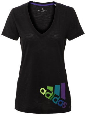 adidas Womens Fall Deep V-Neck Tee