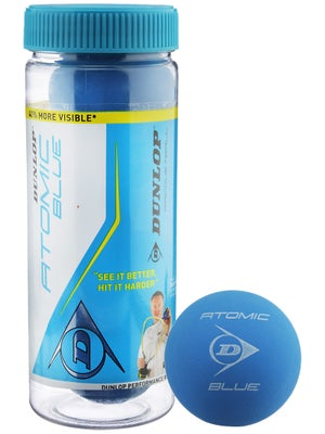 Dunlop Atomic Blue Racquetballs 3 Ball Can