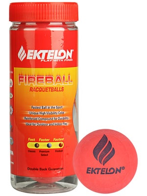 Ektelon Fireball Racquetballs 3 Ball Can