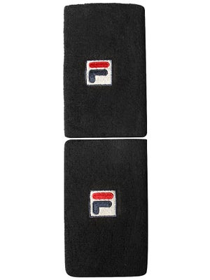 Fila F-Box Doublewide Wristbands Black