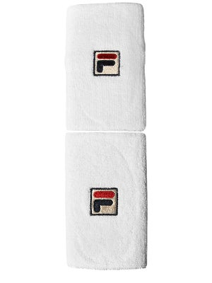 Fila F-Box Doublewide Wristbands White