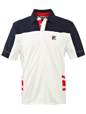 Fila Mens Vintage Retro Polo