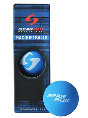 Gearbox Blue Racquetballs 3 Ball Can