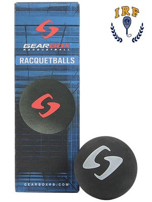 Gearbox Black Racquetballs 3 Ball Can