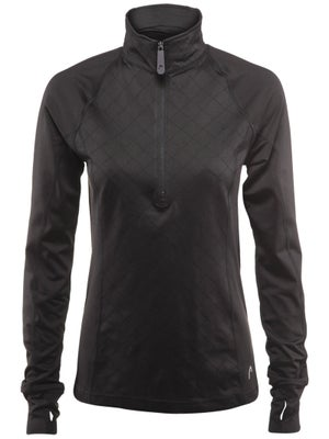 Head Womens Fall 1/4 Zip Quilted Mock Top