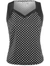 Jerdog Women's Dixie Dots V-Squared Sleeveless Top