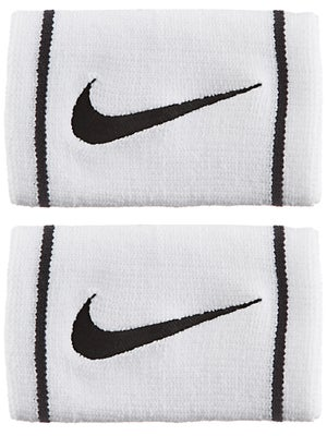 Nike Dri-Fit Striped Doublewide Wristband White/Black