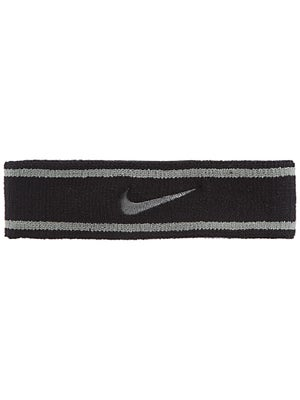 Nike Dri-Fit Striped Headband Black/Grey