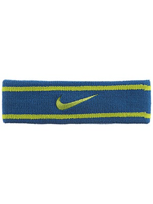 Nike Dri-Fit Striped Headband Blue/Green