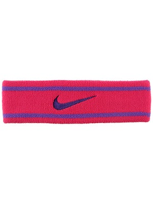 Nike Dri-Fit Striped Headband Pink/Purple