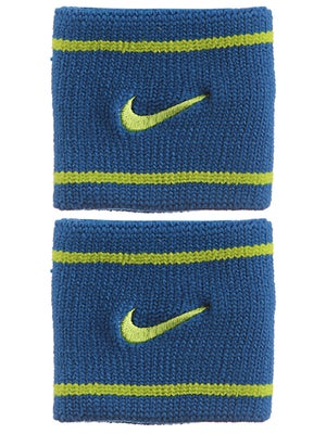 Nike Dri-Fit Striped Singlewide Wristband Blue/Green
