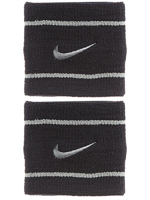 Nike Dri-Fit Striped Singlewide Wristband Black/Grey