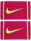 Nike Dri-Fit Striped Doublewide Wristband Fuschia/Volt