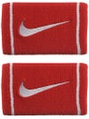 Nike Dri-Fit Striped Doublewide Wristband Red/White