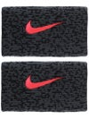 Nike Fall Ace Doublewide Wristband Grey/Black/Punch